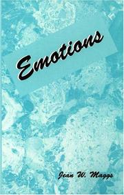 Cover of: Emotions | Jean W. Maggs