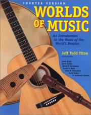 Worlds of Music by Jeff Todd Titon