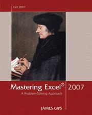 Cover of: Mastering Excel 2007: A Problem-Solving Approach