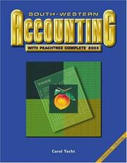 Cover of: South-Western Accounting with Peachtree Complete  2003 | Yacht