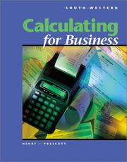 Cover of: Calculating for Business (with Disk) | Barbara Henry