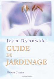 Cover of: Guide de jardinage