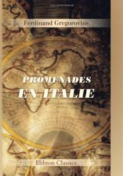 Cover of: Promenades en Italie