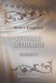 Cover of: Reginald Hetherege
