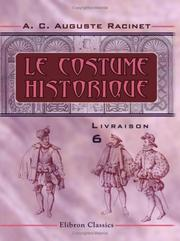 Cover of: Le costume historique