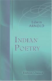 Cover of: Indian Poetry