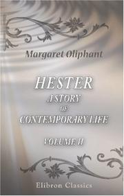 Cover of: Hester: a story of contemporary life