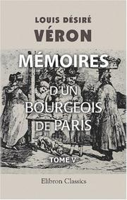 Cover of: Mémoires d\'un bourgeois de Paris