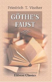 Cover of: Göthe's Faust
