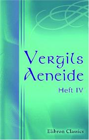 Cover of: Vergils Aeneide: Heft 4 by Publius Vergilius Maro