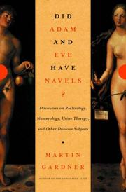 Cover of: Did Adam and Eve Have Navels?: Debunking Pseudoscience