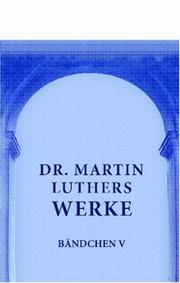 Cover of: Dr. Martin Luthers Werke