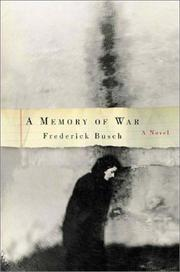 Cover of: A memory of war