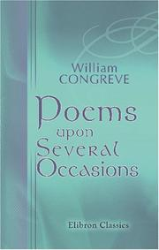 Cover of: Poems upon several occasions