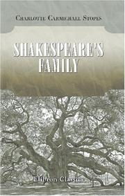 Cover of: Shakespeare/s Family | Charlotte Carmichael Stopes