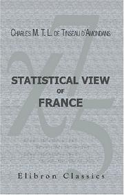 Cover of: Statistical View of France |