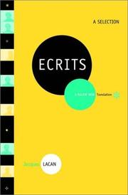 Cover of: Ecrits: A Selection