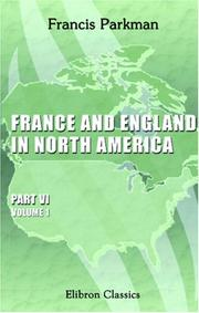 Cover of: France and England in North America
