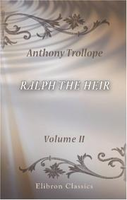 Cover of: Ralph the Heir | Anthony Trollope