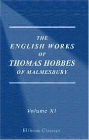 Cover of: The Works of Thomas Hobbes of Malmesbury