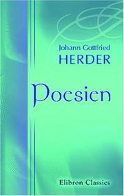 Cover of: Poesien