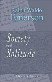 Cover of: Society and solitude: twelve chapters