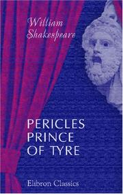 Cover of: Pericles, Prince of Tyre |