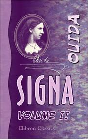 Cover of: Signa | Ouida