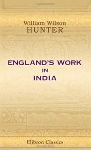 Cover of: England's work in India