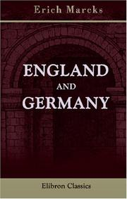 Cover of: England and Germany