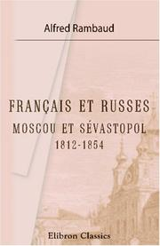 Cover of: Français et Russes