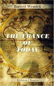 Cover of: The France of today