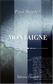 Cover of: Montaigne