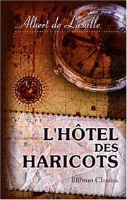Cover of: L\'hôtel des Haricots. Maison d\'arrêt de la Garde nationale de Paris