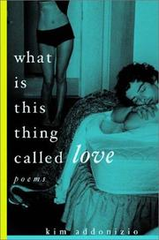 Cover of: What is this thing called love