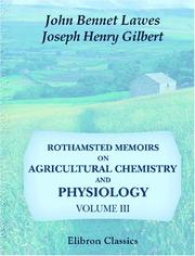 Cover of: Rothamsted Memoirs on Agricultural Chemistry and Physiology