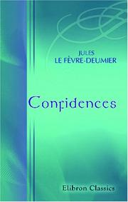 Cover of: Confidences