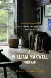 Cover of: A William Maxwell portrait