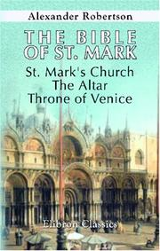 Cover of: The Bible of St. Mark
