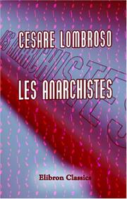 Cover of: Les anarchistes