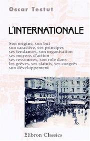 Cover of: L' Internationale