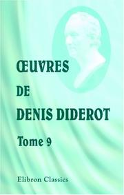 Cover of: uvres de Denis Diderot