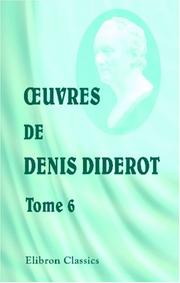 Cover of: Oeuvres de Denis Diderot
