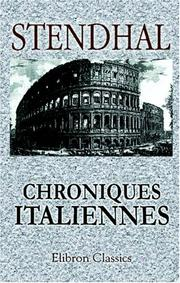 Cover of: Chroniques italiennes