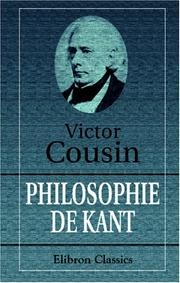 Cover of: Philosophie de Kant