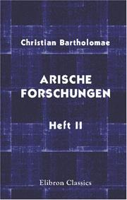 Cover of: Arische forschungen: Heft 2