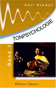Cover of: Tonpsychologie