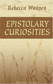 Cover of: Epistolary curiosities