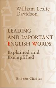 Cover of: Leading and important English words