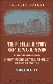 Cover of: The popular history of England